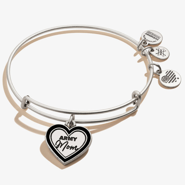 Army Mom Charm Bangle, Rafaelian Silver, Alex and Ani