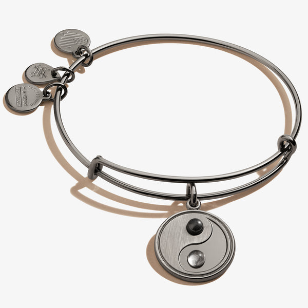 Yin Yang Charm Bangle Bracelet