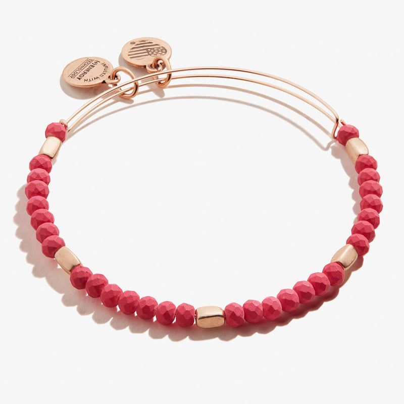 Fuchsia Balance Beaded Bangle