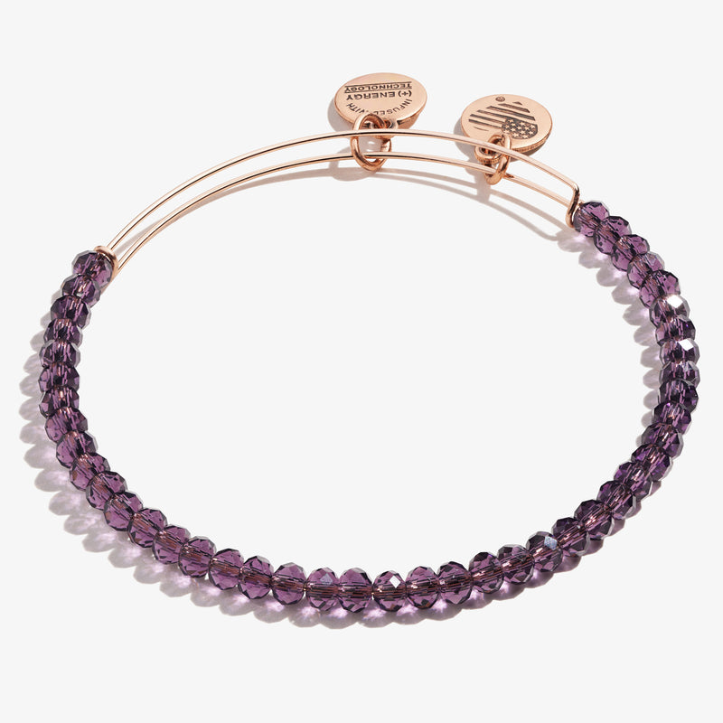 Brilliance Beaded Bangle, Eggplant