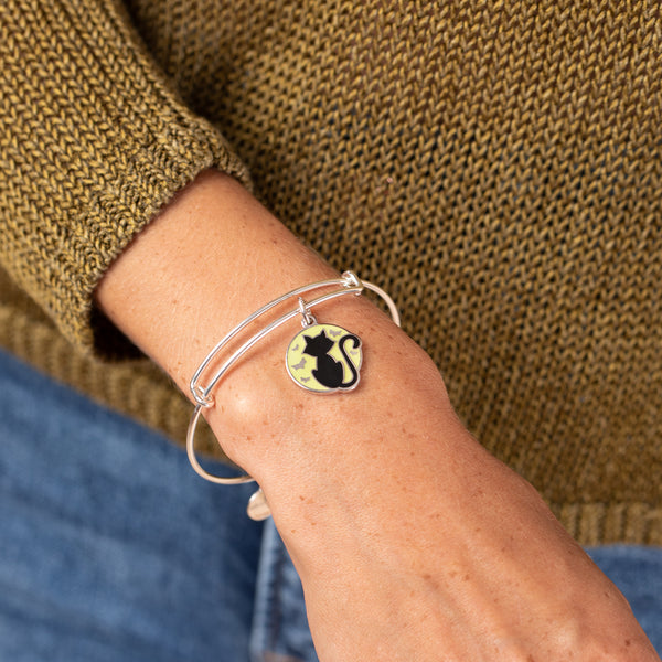 Black Cat Charm Bangle, Color