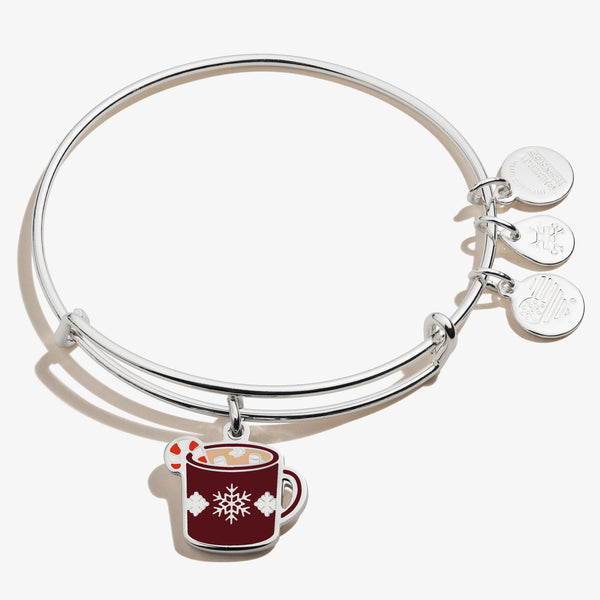 Holiday Hot Cocoa Mug Charm Bangle