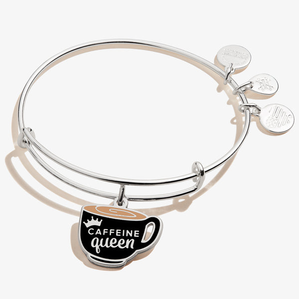 'Caffeine Queen' Coffee Mug Charm Bangle, Color