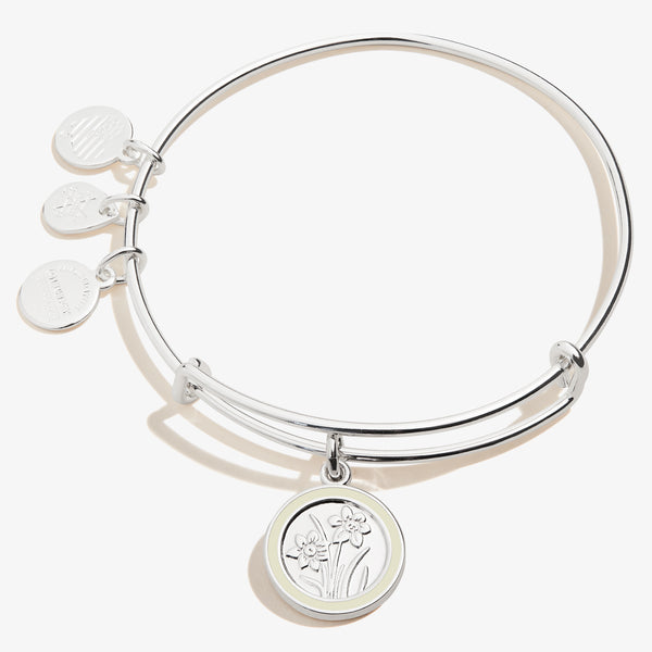 December Narcissus Flower Charm Bangle