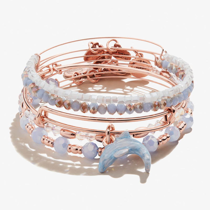 Dolphin Charm Bangles, Set of 5