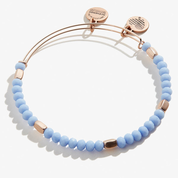 Periwinkle Blue Beaded Bangle