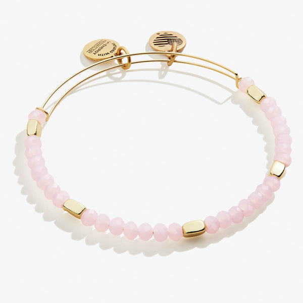 Soft Pink Beaded Bangle