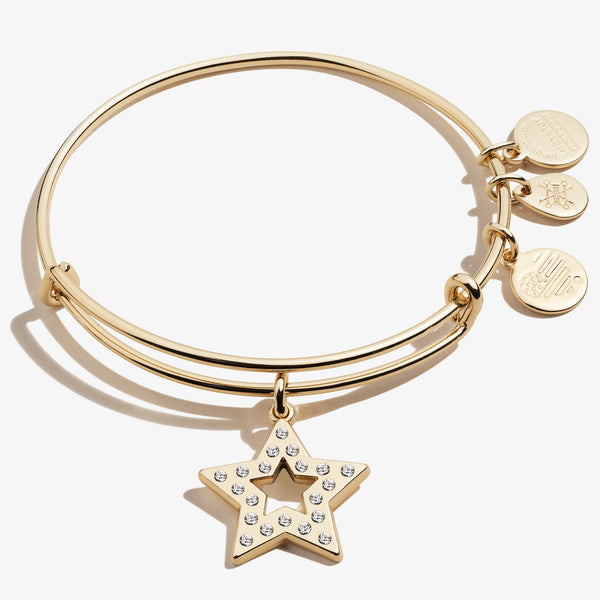 Pavé Star Charm Bangle