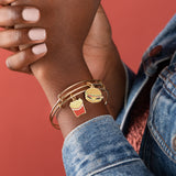 Hamburger + Fry Charm Bangles, Set of 2