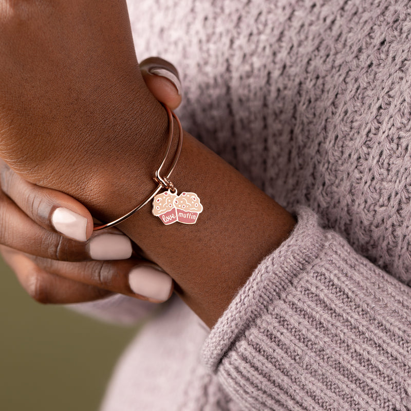 'Love Muffin' Charm Bangle