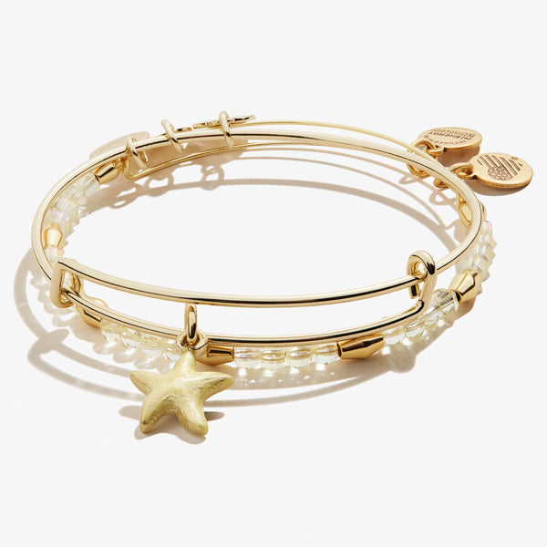 Starfish Charm Bangles, Set of 2