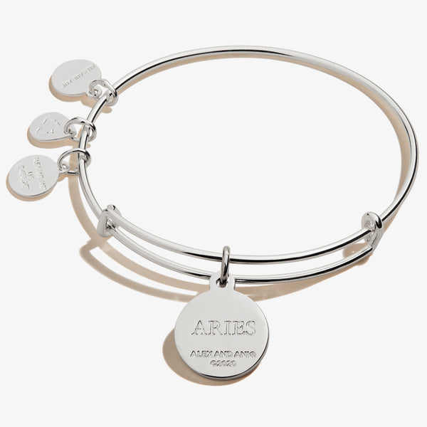 Aries Zodiac Charm Bangle, Color