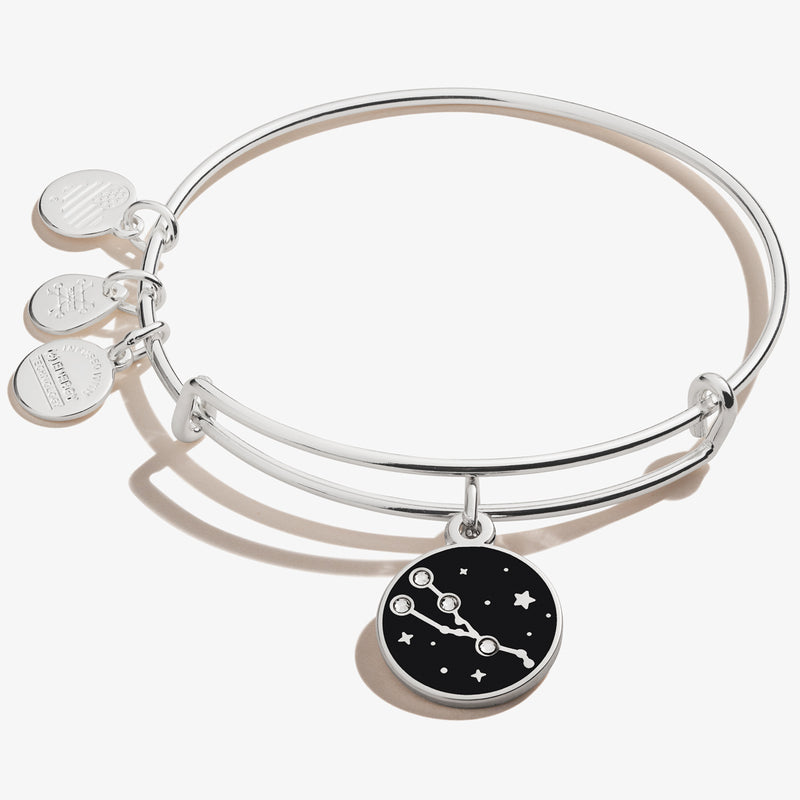 Taurus Zodiac Charm Bangle, Shiny Silver, Alex and Ani