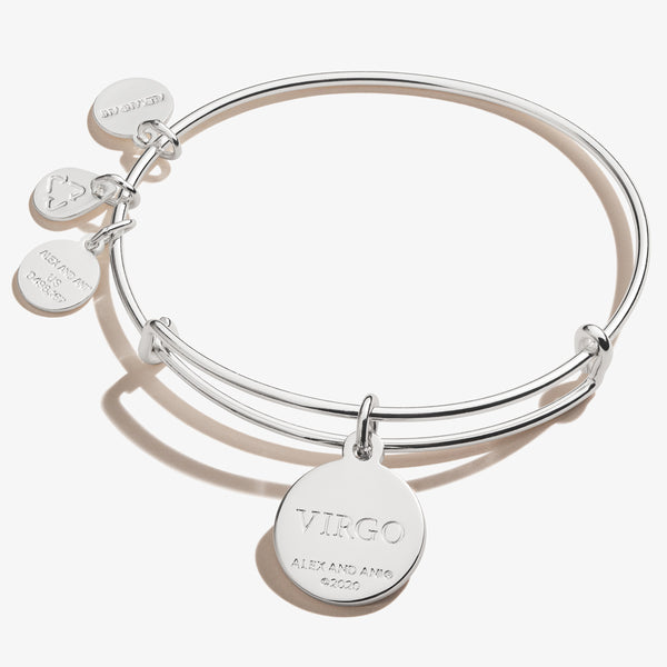 Virgo Zodiac Charm Bangle, Color