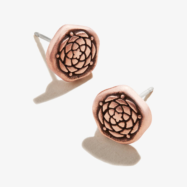 New Beginnings Molten Coin Stud Earrings