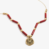 Path of Life® Charm + Red Jasper Necklace