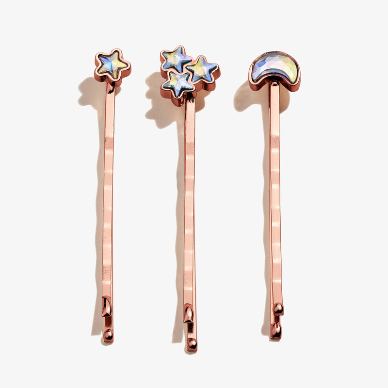 Moon + Star Hair Pins, Set of 3