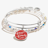 'Forever Family' Charm Bangle, Set of 2