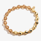 Crystal Stretch Bracelet, Gold, Rafaelian Gold, Alex and Ani