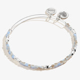 Stone Blue Vibrancy Beaded Bangle, Shiny Silver, Alex and Ani