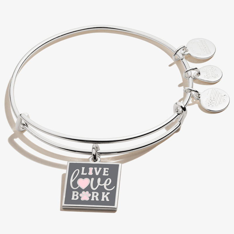 'Live, Love, Bark' Charm Bangle