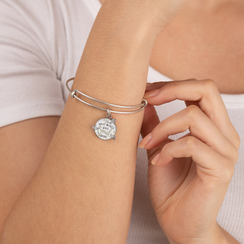 'Do What Makes Your Soul Shine' Charm Bangle