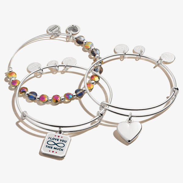Love Charm Bangle, Set of 3