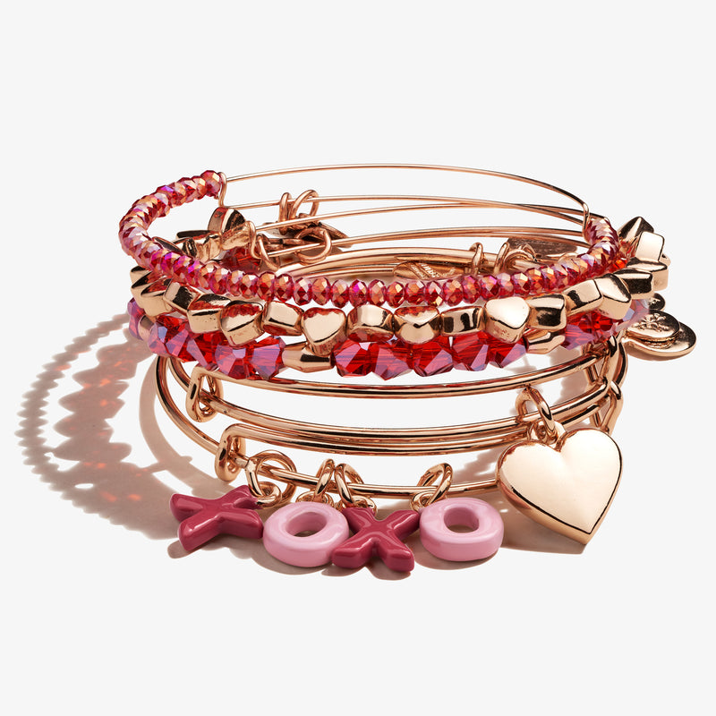 'XOXO' Charm Bangle, Set of 5