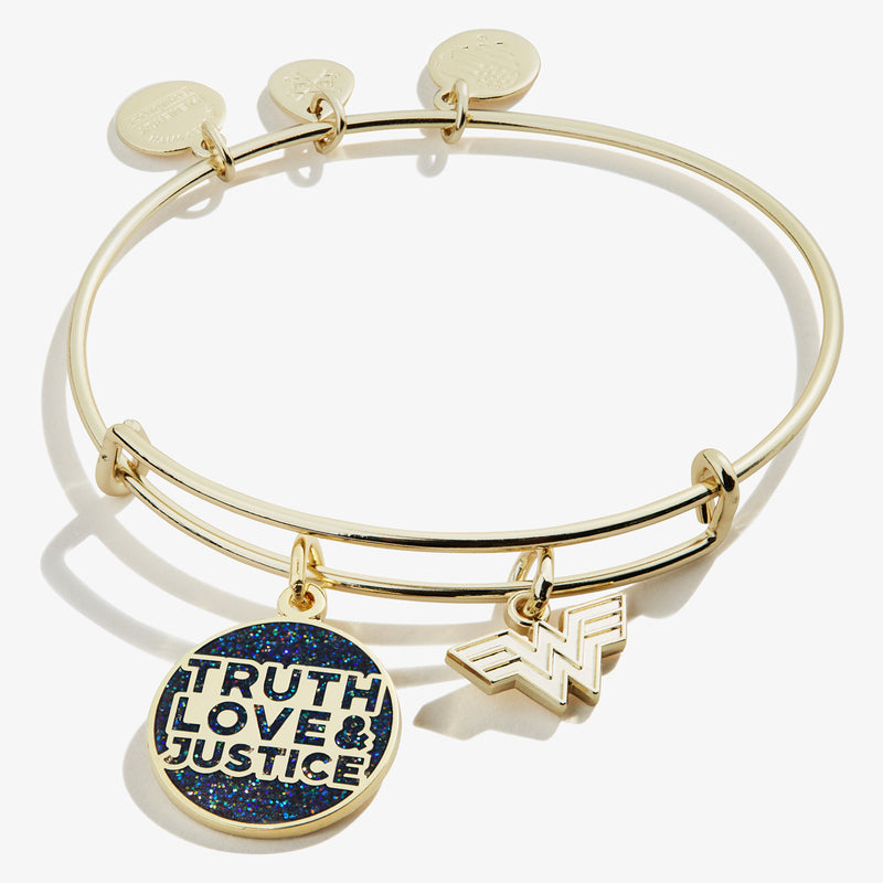 Wonder Woman™ 'Truth, Love & Justice' Duo Charm Bangle
