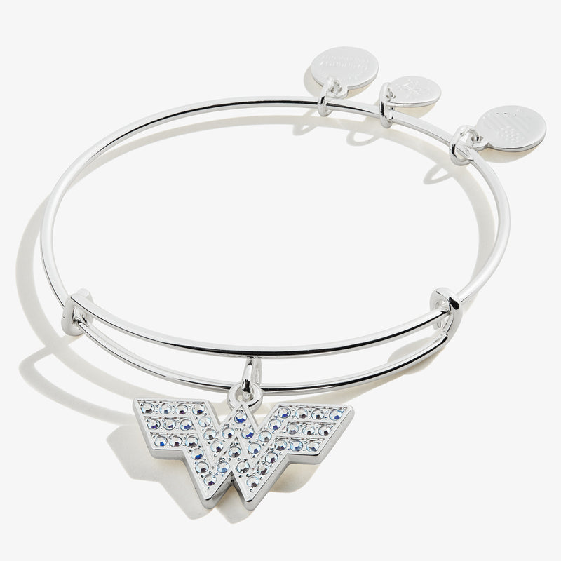 Pavé Wonder Woman™ Logo Charm Bangle