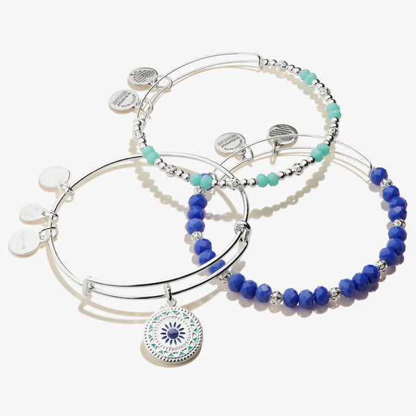 New Day Charm Bangle, Set of 3
