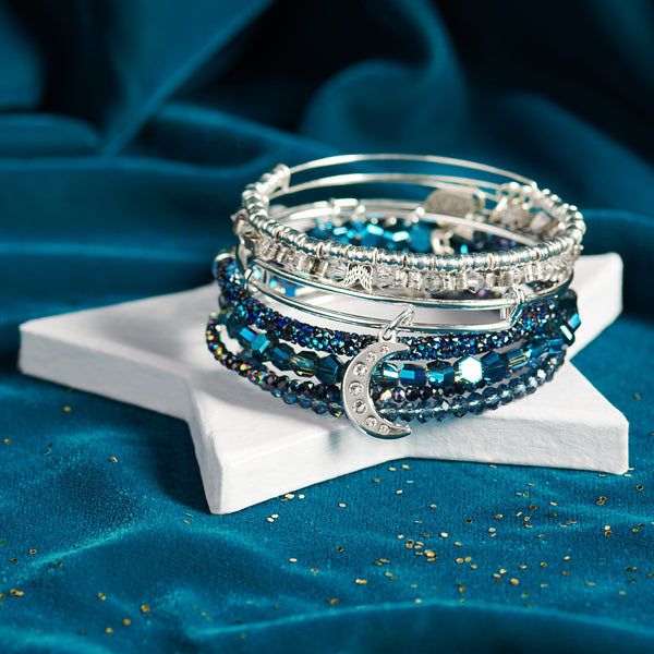 The Pavé Moon Sapphire Stack