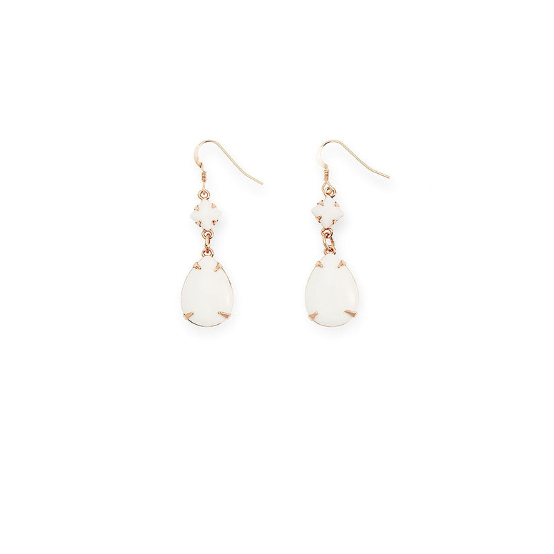 Birch White Dewdrop Earrings