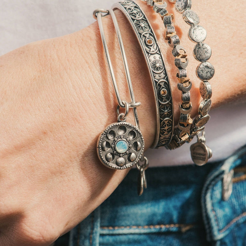 Moon + Star Beaded Bangle