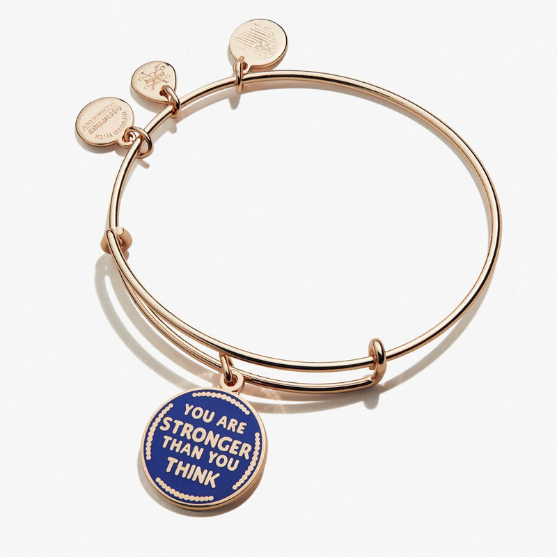 'You Are Stronger Than You Think' Charm Bangle