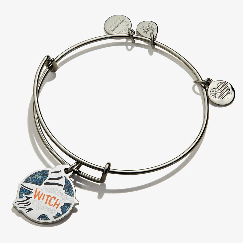 Resting Witch Face Charm Bangle