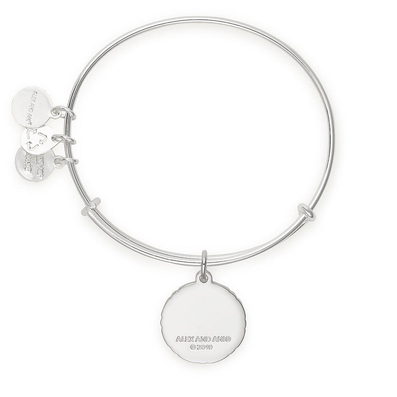 'What Is For You Will Not Pass You' Charm Bangle, Silver