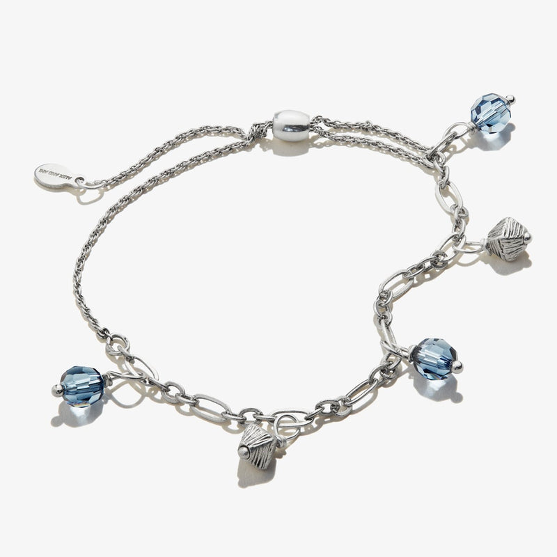 Blue Crystal Pull Chain Bracelet