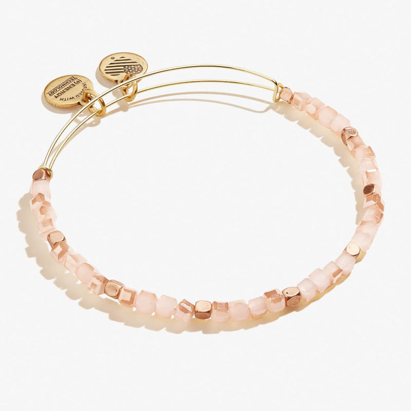 Glimmering Caramel Beaded Bangle
