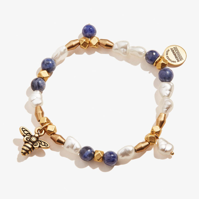 Honey Bee Beaded Stretch Bracelet