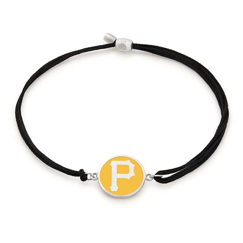 Pittsburgh Pirates MLB Charm Pull Cord Bracelet