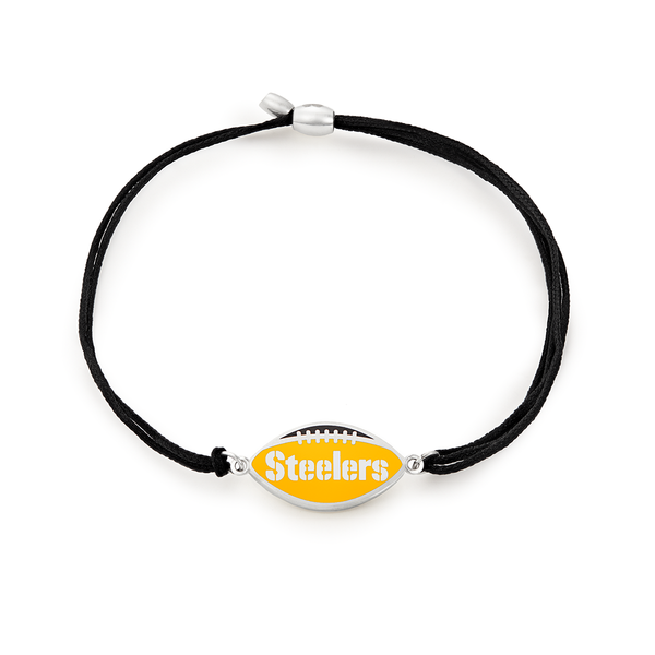 Pittsburgh Steelers NFL Charm Pull Cord Bracelet