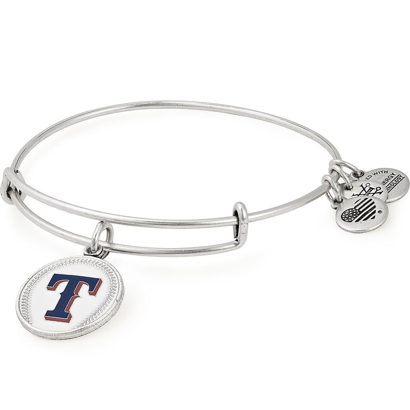 Texas Rangers MLB Charm Bangle, Rafaelian Silver, Alex and Ani