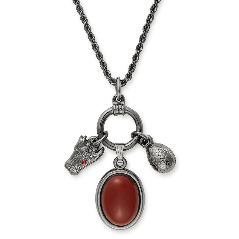 Game of Thrones™ House Targaryen Trio Charm Necklace