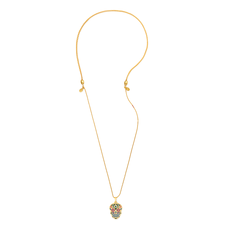 Calavera Charm Necklace