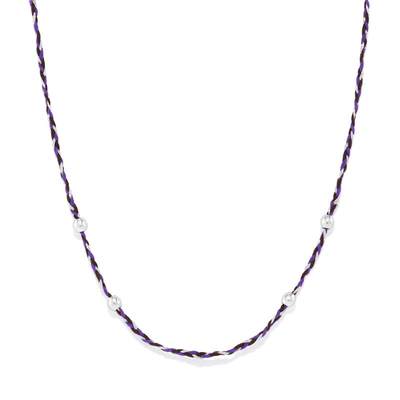 Purple Precious Threads Necklace