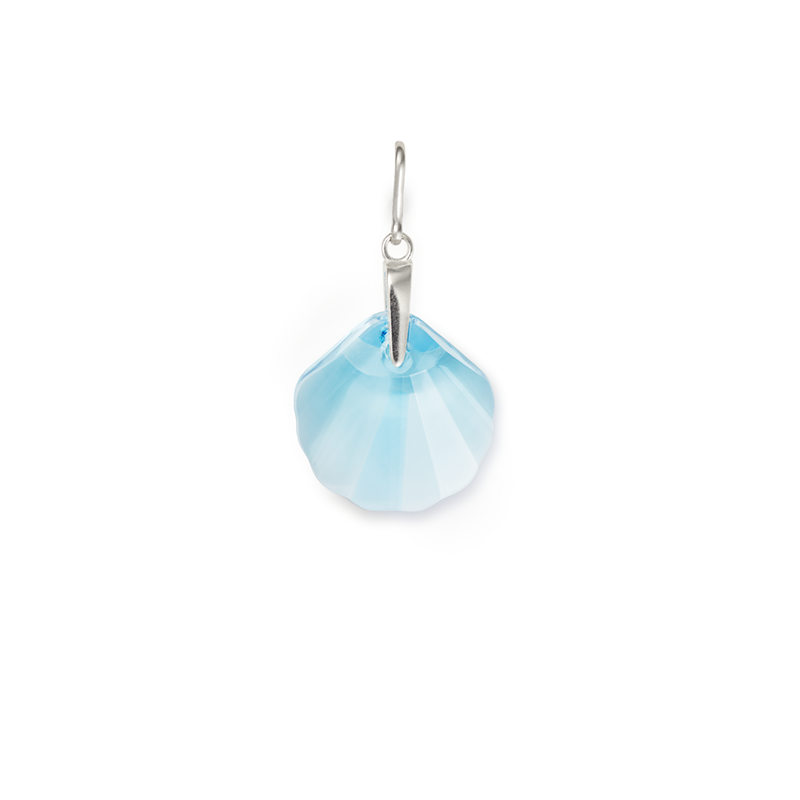 Powder Blue Seashell Charm