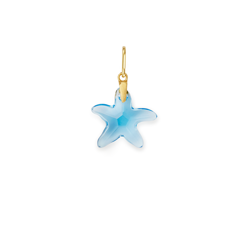Powder Blue Starfish Charm