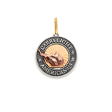 Liberty Copper™ Charm, 14kt Gold Center, Large
