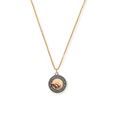 Liberty Copper™ Necklace, 14kt Gold Center Charm, Small